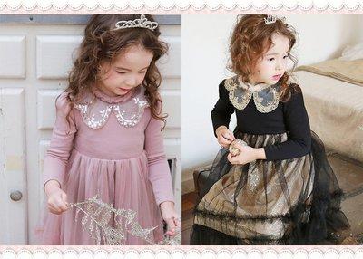 。~ 寶貝可愛 ~。韓國精選Flo恬靜優雅,Claudie美麗蕾絲領洋裝。2019秋冬現貨出清