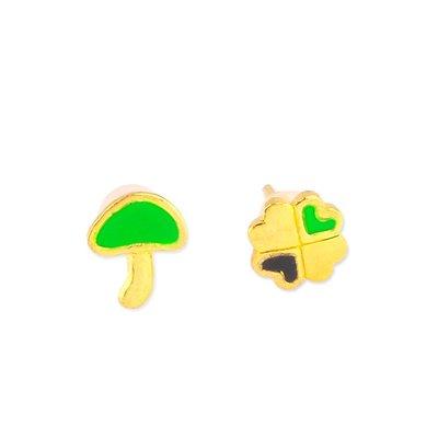 【JHT 金宏總珠寶/GIA鑽石】0.43錢 幸運草黃金耳環 (請詳閱商品描述)