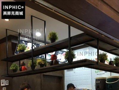 INPHIC-美式復古實木前臺壁掛花架...
