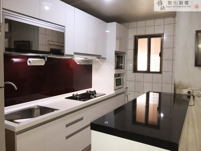 【雅格廚櫃】工廠直營~雙一字廚櫃、流理台、櫻花二機、鏡面烘碗機、三星石