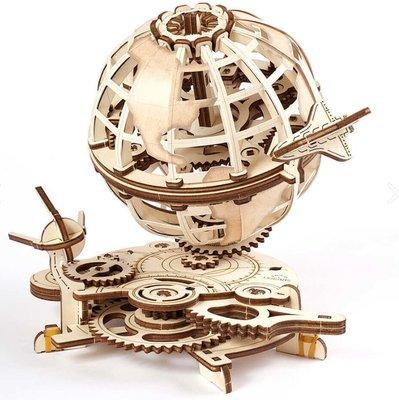 Ugears 旋轉的蓋亞星球 地球儀 入門款 DIY紓壓擺飾 木製模型