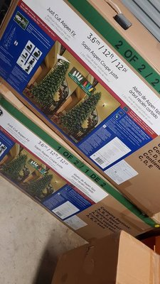 ASDF 12呎聖誕樹 LED 聖誕樹附無線遙控器 3.65公尺高 999096 好市多賣的 中國製 箱子破