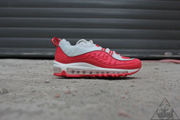 【HYDRA】Nike Air Max 98 University Red 氣墊 慢跑鞋 白紅【640744-602】