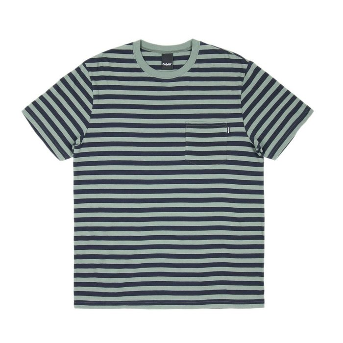 《 Nightmare 》ONLY NY Nautical Stripe Pocket T-Shirt - Willow