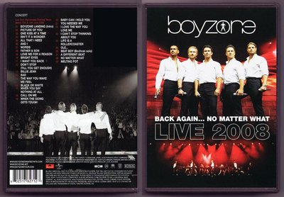 音樂居士#Boyzone Back Again No Matter What Live () DVD