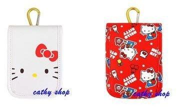 *凱西小舖*日本進口三麗歐正版KITTY凱蒂貓掛勾收納/相機/手機袋(可放悠遊卡)*2選1