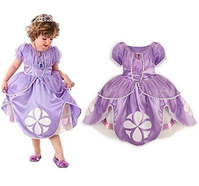 蘇菲亞公主造型女童洋裝表演禮服公主裙萬聖節 生日畢業典禮 派對 現貨--崴崴安兒童館