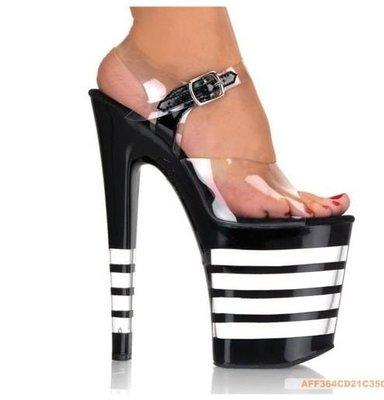 """""""西西莉亞"""" 35-42碼20cm水晶鞋高跟透明厚底涼鞋D138款 有實體店鋪,可量身定做!"""