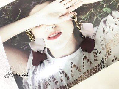 【海星 Starfish】|925銀針|質感浪漫紫花瓣耳環