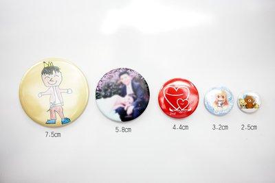 *小魚個性小站*32mm照片徽胸章/吸鐵/婚禮小物磁鐵/贈品/ 含opp袋小包裝