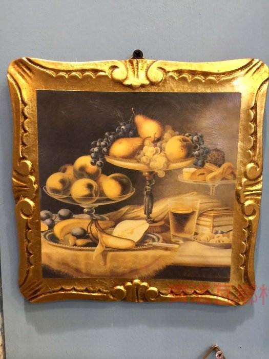 《齊洛瓦鄉村風雜貨》義大利復古金箔版畫 掛畫 居家裝飾 店家裝飾
