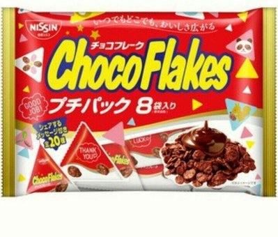日清 choco flakes 巧克力脆片/1包/8入/96g