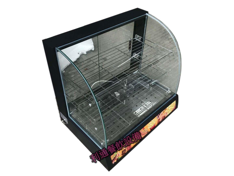 《利通餐飲設備》(黑)2色可選  桌上型弧型保溫櫥 熱食保溫展示櫥 保溫台 保溫櫃 保溫箱 圓弧保溫台 保溫箱