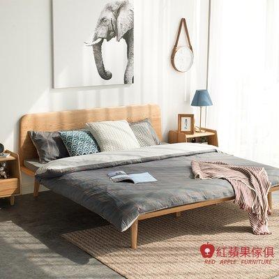 [紅蘋果傢俱] JM013 5/6尺床架 北歐風床架 日式床架 實木床架 無印風床架 簡約床架