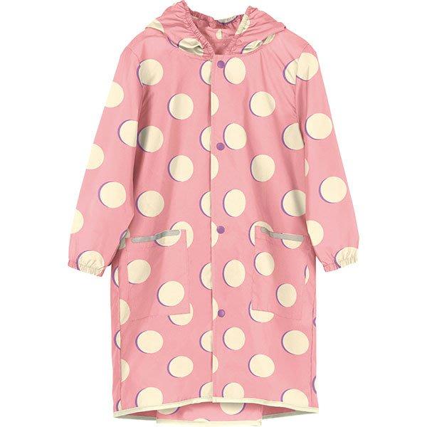 現貨!日本WPC 粉紅月L 空氣感兒童雨衣/防水外套 附收納袋(120-140cm)