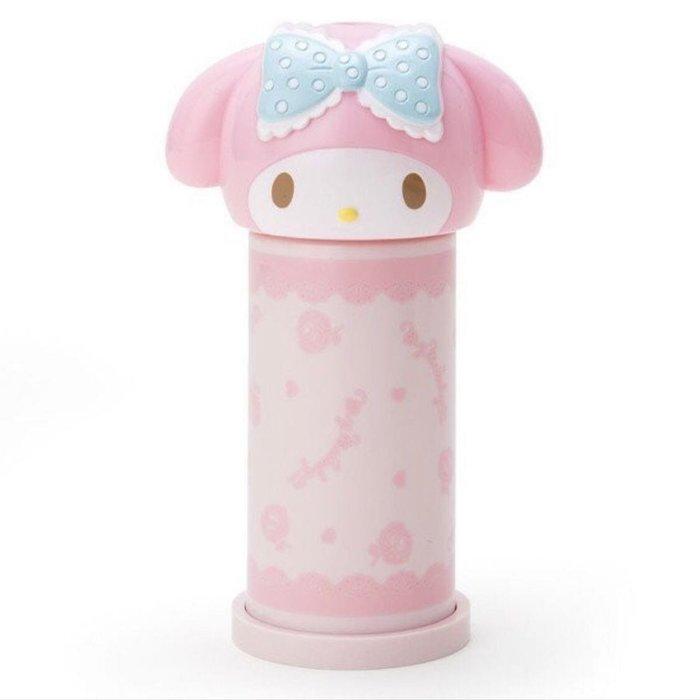 日本 My Melody 美樂蒂 造型按壓式棉花棒罐 自動彈出棉花棒