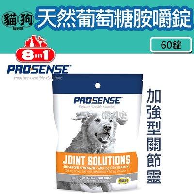寵到底-美國8in1 Pro Sense系列加強型關節靈 天然葡萄糖嚼錠60錠,狗關節,寵物關節,關節保健,高齡犬