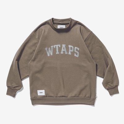 全新現貨 卡其 沙色 L號 20AW WTAPS COLLEGE / MOCK NECK / COPO 大學T 衛衣