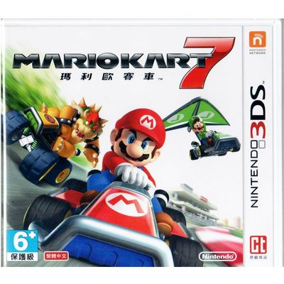 [哈GAME族]~廠商庫存過多出清價~ N3DS 瑪利歐賽車 7 瑪莉歐賽車7 Mario 7 繁體中文版 台灣機專用