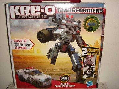 1戰隊大黃蜂柯博文密卡登天王星MEGA美高LEGO樂高Kre-o積木公仔變形金剛警車Prowl巡弋者機器人五佰九一元起標