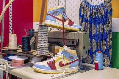 Air Jordan 1 High Mid 非洲風格 拼接 時尚 高筒 籃球鞋 CU2803-200 男鞋