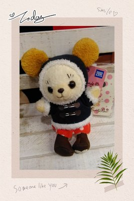 毛線帽米妮熊公仔吊飾*日本*正版商品