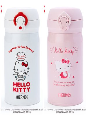 【PINK】Hello Kitty THERMOS膳魔師保溫保冷瓶350ml
