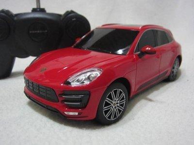 【KENTIM玩具城】1:24全新原裝保時捷 PORSCHE Macan Turbo紅色授權RASTAR遙控車