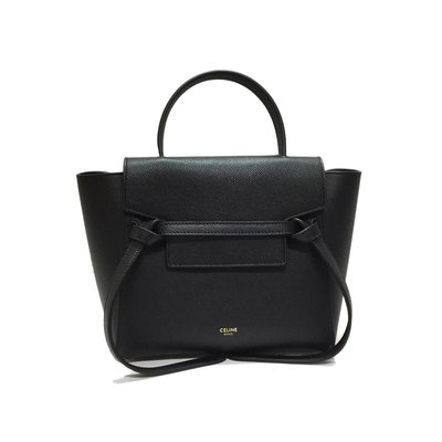 全新正品 CELINE 189003 Nano Belt bag in grained calfskin 黑色