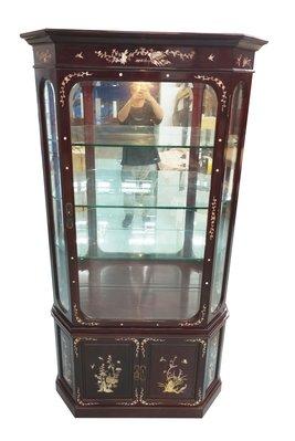 【宏品二手家具】台中全新中古傢俱家電最便宜 RW2266*紅木鑲貝展示櫃 酒櫃*仿古家具 古董傢俱檜木檀木樟木柚木櫥櫃