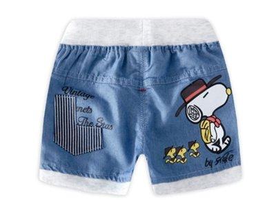 Snoopy 薄款短👧👦牛仔褲