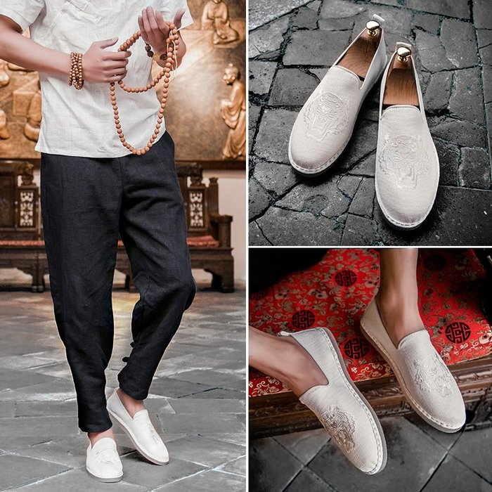 潮客良品 老北京 布鞋  新款透氣 正韓版 懶人帆布 鞋子 百搭平底 平底鞋 cklp127