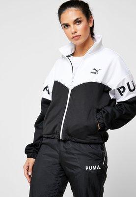 =E.P=PUMA XTG Track Jacket 黑白 休閒 短版 立領外套 女款 59523901