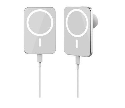 新款車載磁吸支架15W無線充 通用蘋果iPhone12磁力車載無線充電器
