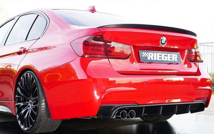 【樂駒】RIEGER BMW F30 F31 LCI rear skirt insert 後下巴 單邊雙出 素材 需烤漆