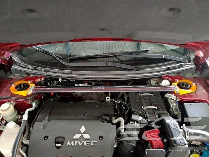 阿宏改裝部品 E.SPRING 三菱 Lancer sportback 鋁合金 引擎室拉桿 3期0利率