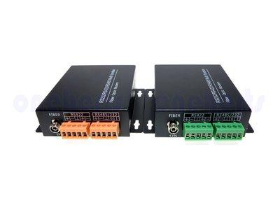 光纖數據機 雙向232 422 485 三合一傳輸器 光纖收發器 資料傳輸 光電轉器 自動化 光纖轉換 光電監控設備