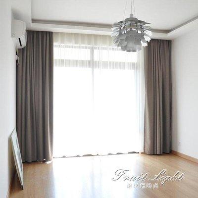 窗簾 北歐簡約現代棉麻風格純色落地窗簾遮光布定制客廳臥室飄窗簾成品 NMS