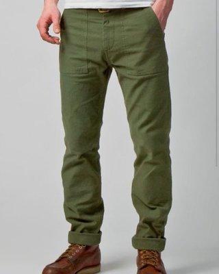 生來狂野全新美國製Tellason Fatigue Olive OG-107軍褲面包褲意產現貨
