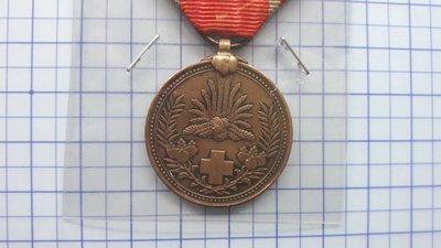 4520日本明治37-8年赤十字社日俄戰後救護紀念銅章