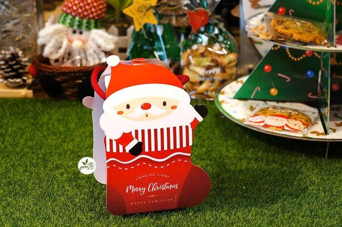 提盒_耶誕禮物造型盒附紅繩_3-2971005◎聖誕節.聖誕老人.雪人.提盒.手提.餅乾.糖果.包裝盒
