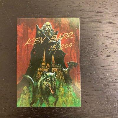 1997 Ken Barr 蘇格蘭藝術家親筆簽名 收藏卡 卡片