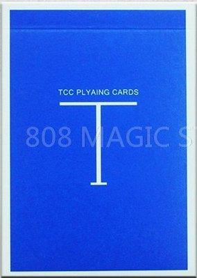 [808 MAGIC]魔術道具 限量純色牌 Classic T Playing Card 藍色