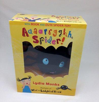*小貝比的家*AAAAPRGGHH SPIDER/書+玩偶/3~6歲/盒裝書