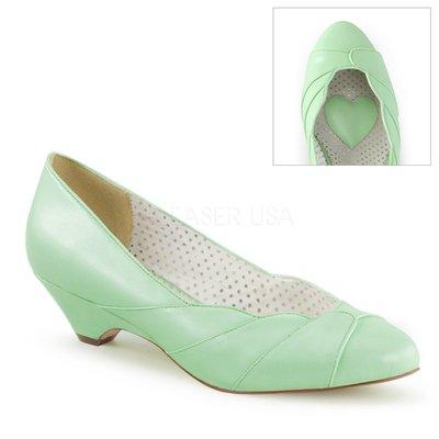 Shoes InStyle《一吋》美國品牌 PIN UP CONTURE 原廠正品扇形貝殼設計低跟包鞋 出清『綠色』