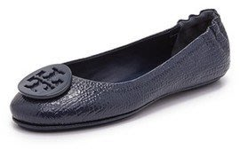 Tory Burch Minnie Travel Ballet Flats 芭蕾舞平底鞋 深藍US9.5/42