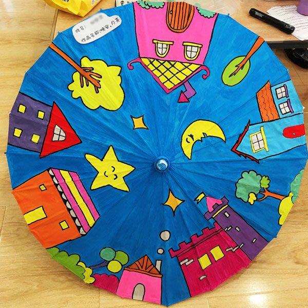 兒童DIY繪畫空白油紙傘 (30cm)【JC3847】《Jami Honey》