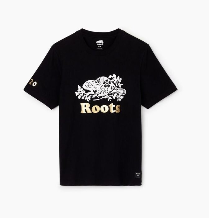 ~☆.•°莎莎~*~☆~~加拿大ROOTS Mens Lunar New Year Slim T-Shirt 棉T ~