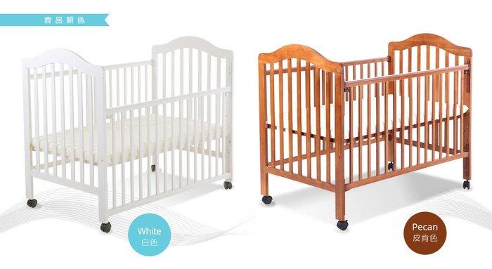 ☘ 板橋統一婦幼百貨 ☘ L.A.Baby 米爾頓 嬰兒大床 白色 原木色 實體門市