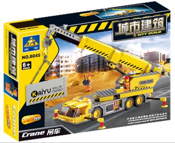 【開智積木 8045 吊車 】380PCS 工程系列 非樂高LEGO積木可與LEGO相容